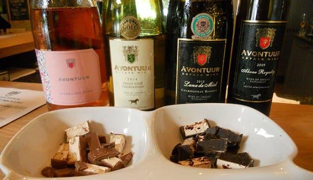 avontuur wine estate nougat pairing