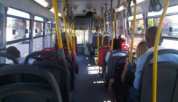 Inside Myciti bus