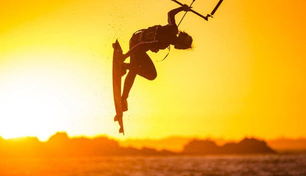 High Five Kitesurfing Sunset