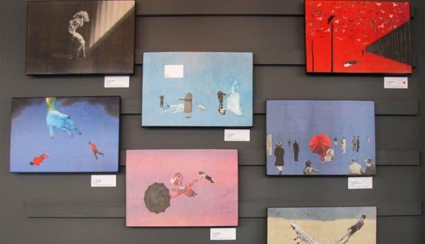 Restaurants selling art