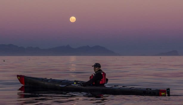 Moonlight Full Moon Kayak in Simon's Town
