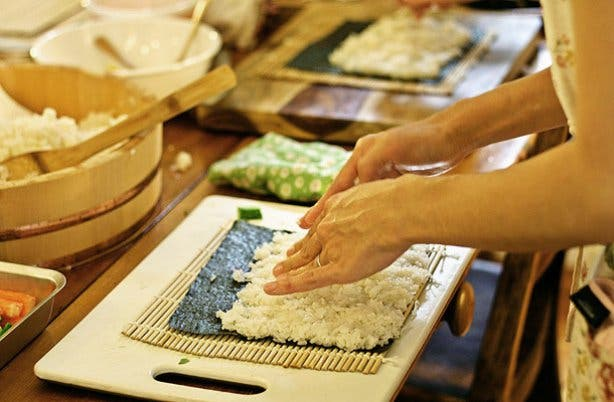 Sushi making for a hen party at Blowfish
