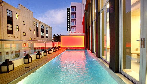 Fire and Ice Pool Shot Cape Town