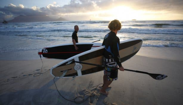 Stand-up Paddling in Blouberg with High Five