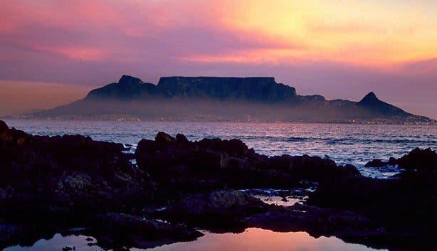 Table Mountain at dusk