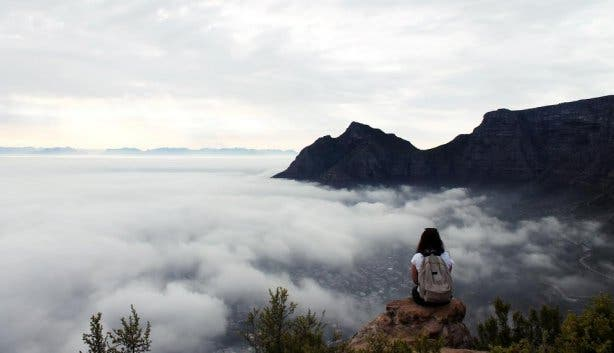 Jenna vd Perre Lion's Head clouds selfie