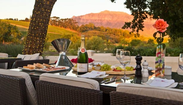 Peter Falke Wine Farm Outdoor Table Stellenbosch