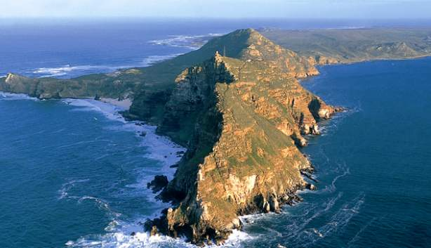 cape point from the air