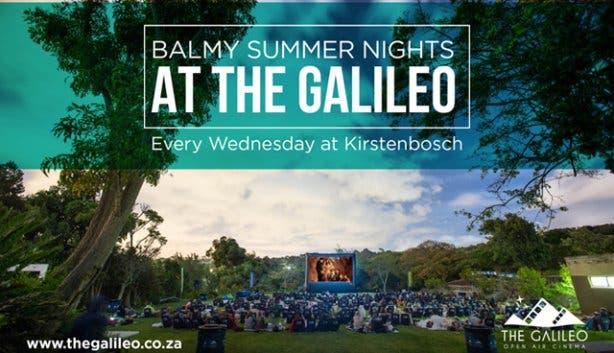 Galileo Cinema at Kirstenbosch every Wednesday