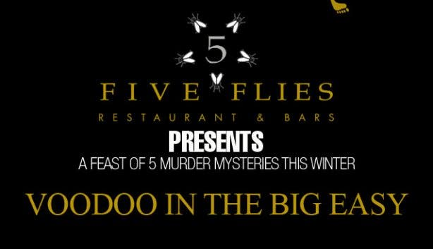 five flies murder mysteries winter Voodoo