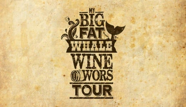 whale wine and wors wine flies logo