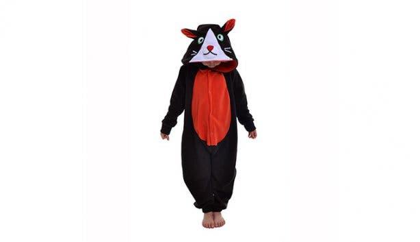 aFREAKa Clothing Kid Black Cat Onesie