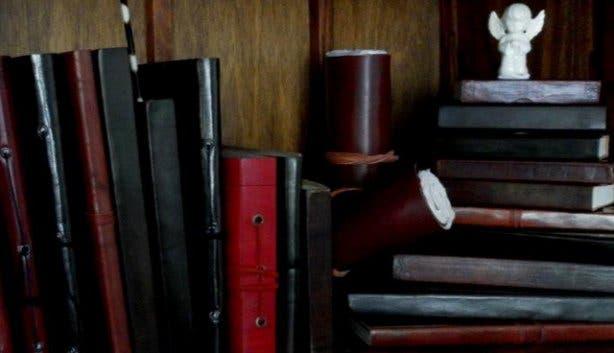 Handmade leather journals from Baraka gift store
