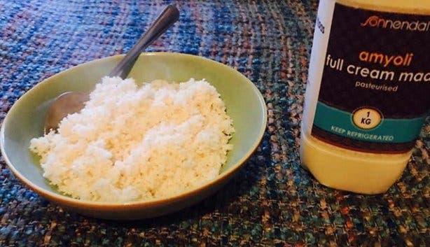Umphokoqo südafrikanisches Essen Reis
