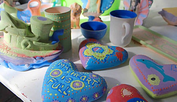 Clay Cafe hearts