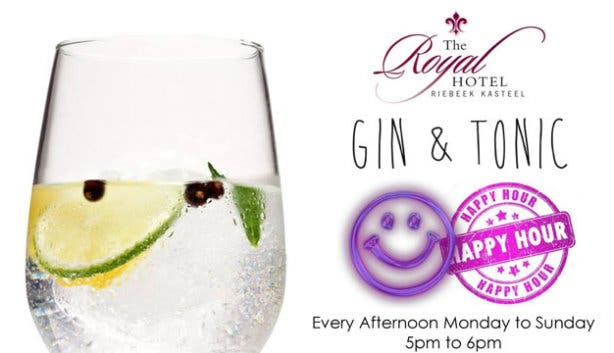 The Royal Hotel's famous gin and tonic happy hour