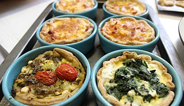 Clay Cafe quiche