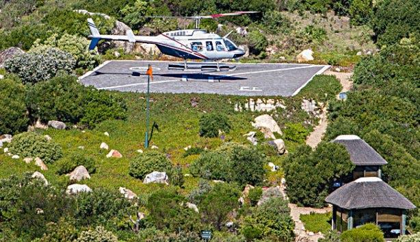 NAC landing pad at 12 Apostles Hotel