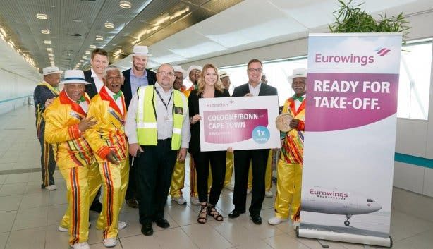 Cologne to Cape Town Eurowings