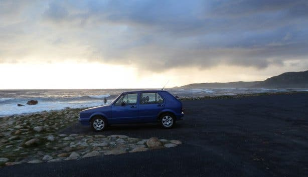 Moody car shot at Cape Point SA