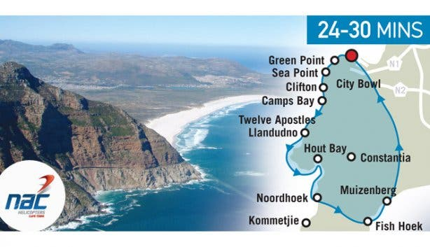 NAC Three Bays Helicopter Tour Route Map