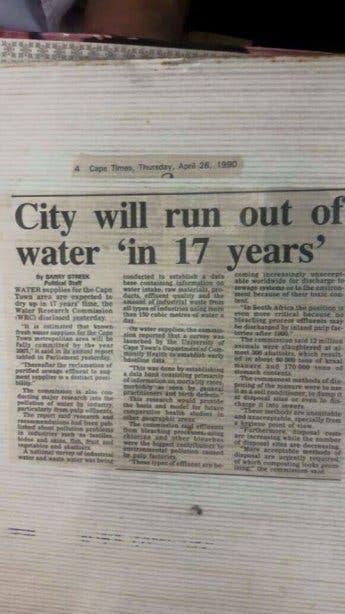 alter artikel wasserkrise
