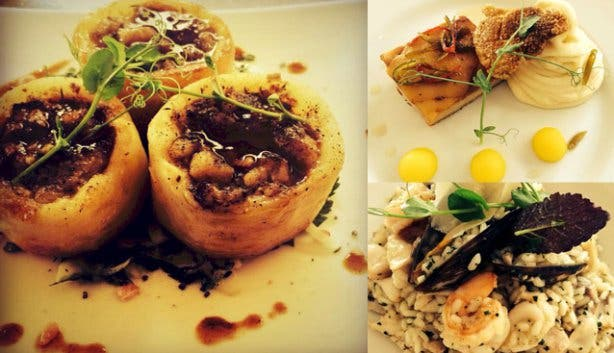 Mediterranean food at Sotano by caveau