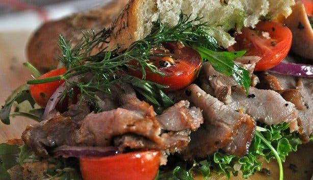 Rcaffe roast beef sandwich