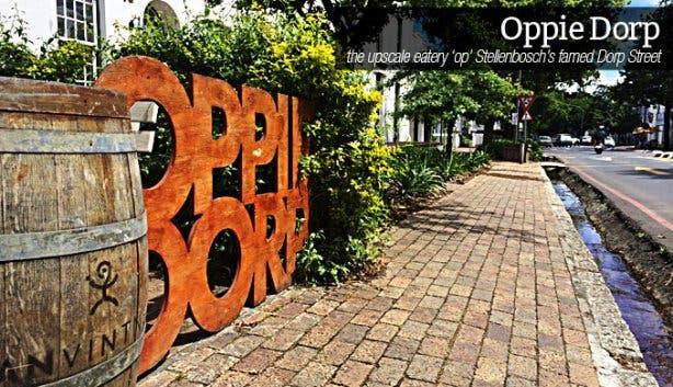Oppie Dorp Restaurant in Stellenbosch