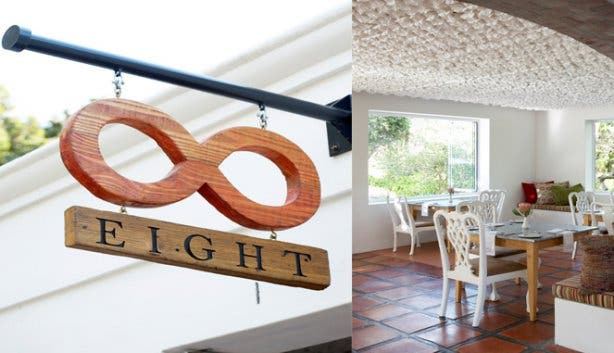 Spier Eight logo and interior