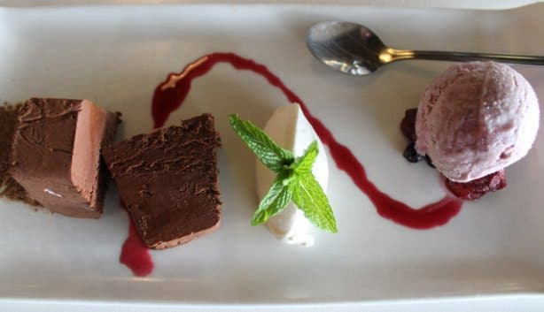dessert at Red Leaf restaurant at Beyerskloof