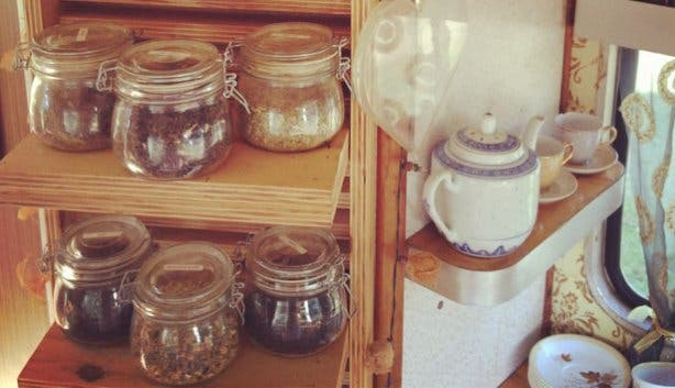 Lady Bonin Glass Tea Jars
