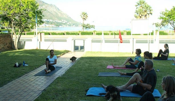 Om Revolution outdoor yoga