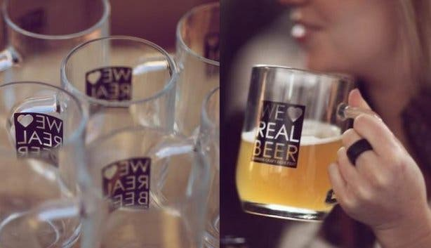 We Love Real Beer glasses