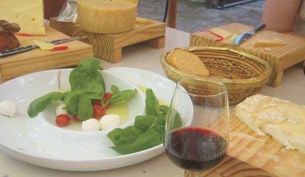 african cheese and wine food