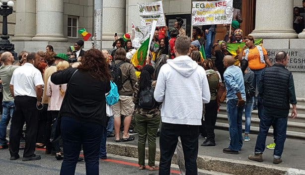 cannabis protest
