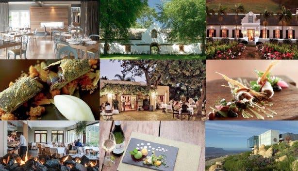 Mooie restaurants wijnlanden kaapstad