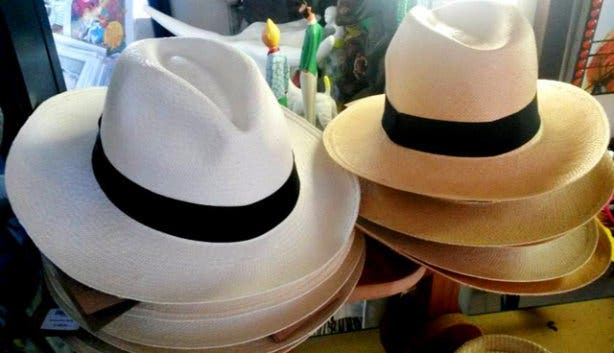 Cool panama hats from Baraka decor shop