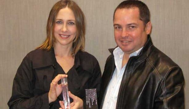 Yair Shimansky presents celebrity Vera Farmiga with My Girl perfume
