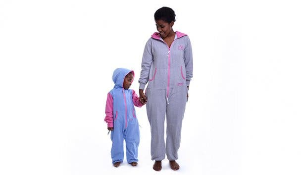 aFREAKa Clothing Grey and Blue INYE Onesie