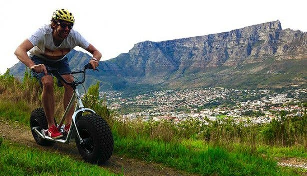 Scootours Man and Table Mountain