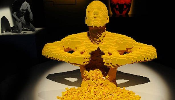 Art of the Brick Lego Exhibition Cape Town Yellow