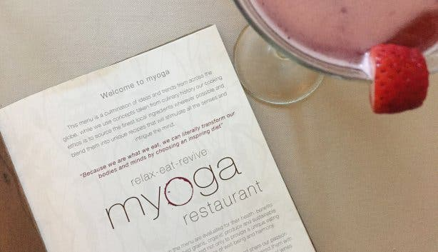 Myoga Speisekarte und Drink