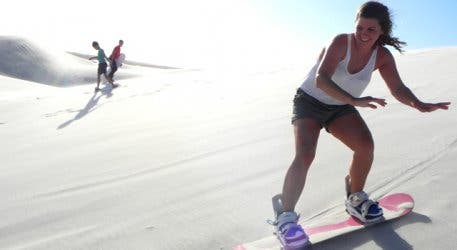 Girl Sandboarding