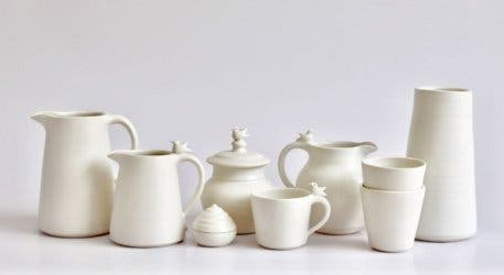 Sarah Walters Ceramic Gallery celebrates Spring with this collaboration of potters and nature
