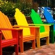 Rainbow chairs