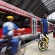 Dahon Folding Bikes on Train