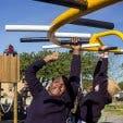 Blind-Friendly Outdoor Park Monkey Bar and Children
