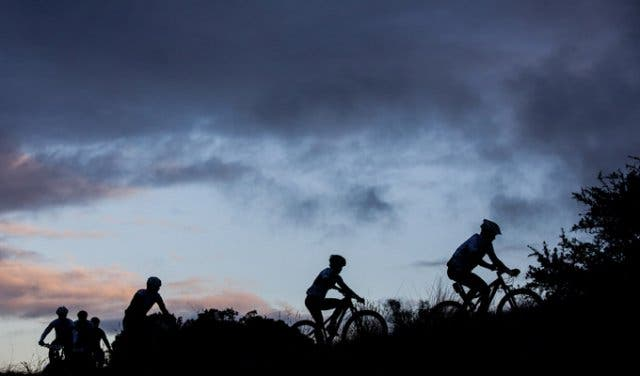 Cape Epic riders at night