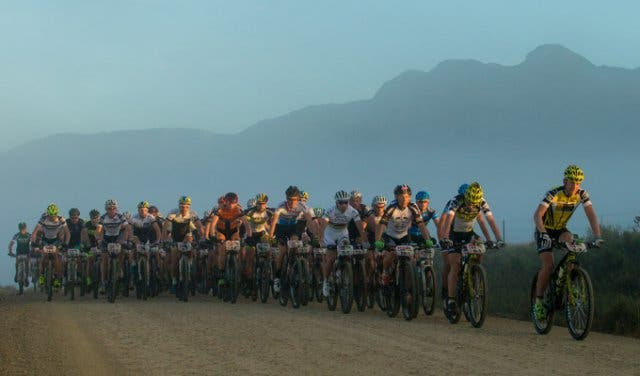 Cape Epic riders riding together